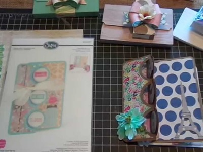 Triple Circle Flip-Its Cards and Index Card Purse.Tutorial