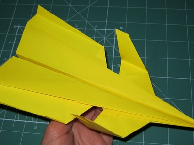 Tutorial paper airplane super canard origami (John Collins)