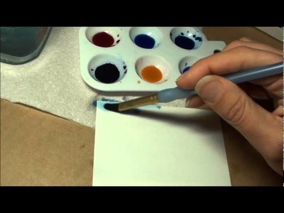 Tutorial - Summer Sky With Watercolours.wmv