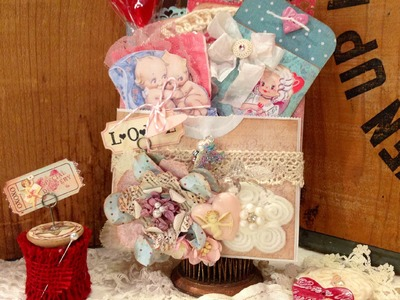 Vintage Valentine gift set tutorial and Giveaway!