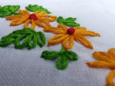 Easy Hand Embroidery Works | Lazy Daisy |  HandiWorks Tutorials #11