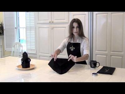 How to fold a Fleur-de-lis Napkin