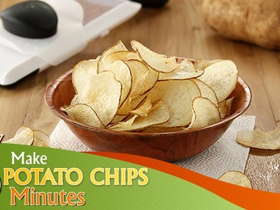 How to Make Potato Chips in 3 Minutes | Life Hacks