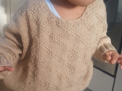 Knitted Toddler Sweater Part 5