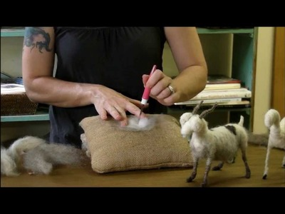 Needle Felting Tutorial - Sarafina Fiber Art Goat Series 6: Pelt