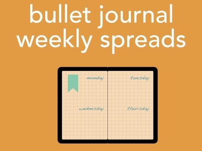 Plan with me: bullet journal weekly spread