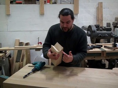 Simple Woodworking  Jig For Drilling Square. Perpendicular