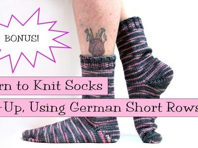 Toe-Up Socks Using German Short Rows BONUS