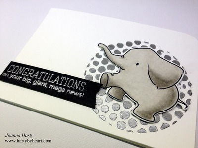 Card tutorial with Mama Elephant and silver embossing paste