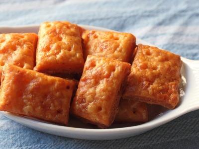 Cheesy Crackers - Homemade Cheese Crackers Recipe