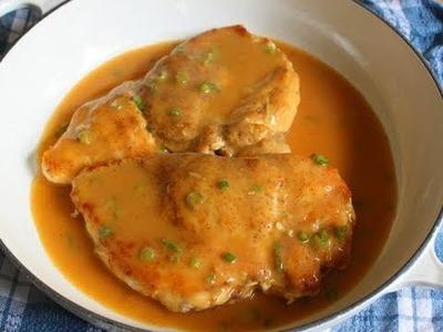 Chicken with Chipotle & Green Onion Gravy - Chicken Breast with Pan Gravy Recipe