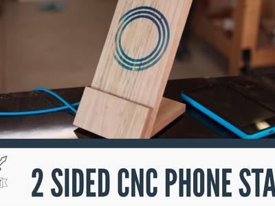 CNC: 2-sided machining to make a wireless phone charger.stand - 061