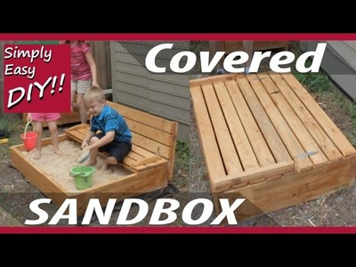 DIY Covered Sandbox with Bench Seating