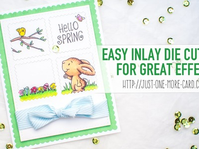 Easter Card with Inlay Die Cutting