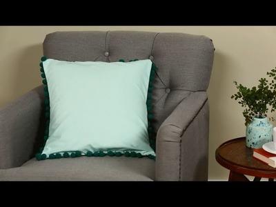 Easy-Sew Pillow (with Pom-Pom Trim!)