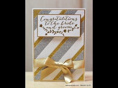 Glitter Tape Wedding Card - JanB UK Stampin' Up! Demonstrator Independent