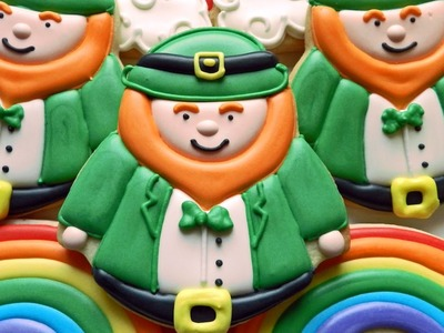 How to Decorate Leprechaun and Rainbow Cookies