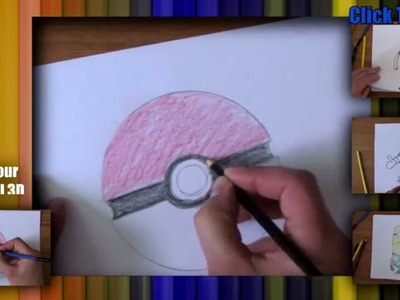 How To Draw a Pokeball (Easy) Pt1