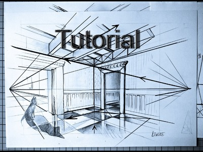How to draw an Interior. perspective and landscapes. #7