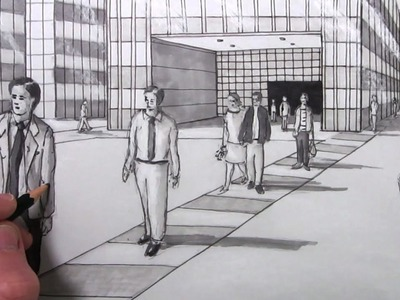 How to Draw People in Perspective in a City