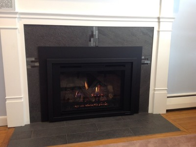 How to reface a fireplace for a gas insert