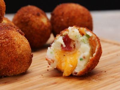 Loaded Cheese Stuffed Mashed Potato Balls