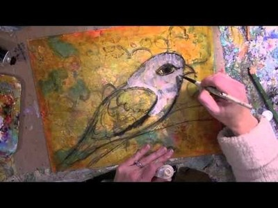 Mixed media speed painting:
