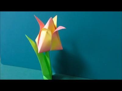 Origami Tulip - Origami Flower Tulip