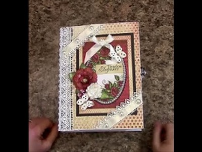 PART 3  TUTORIAL 7 X 9 MINI ALBUM with HEARTFELT CREATIONS ALL GLAMMED UP PAPER   DESIGNS BY