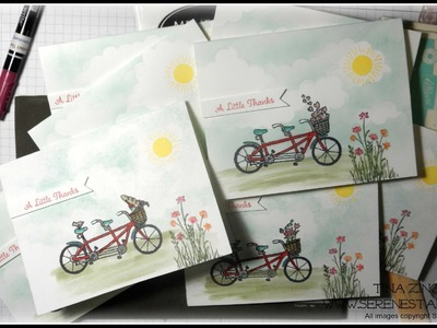 Pedal Pusher Thank You Card