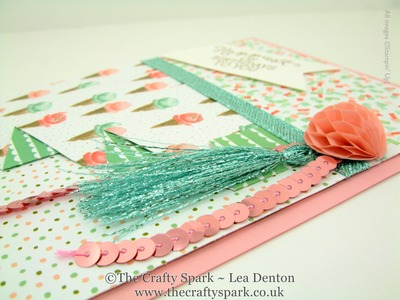 Pool Party Glitter Ribbon Tassle (or is it Tassel?) Stampin' Up! UK
