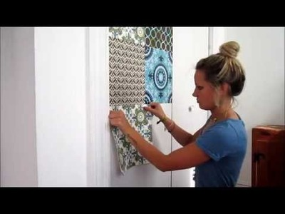 Refashioning with WallPops: Fashioning a Statement Door