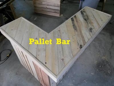 Terry in the Garage, Pallet Bar, part 2