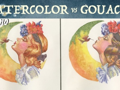 Watercolor VS Gouache Painting (with Grisaille)
