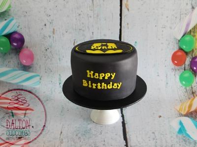 Batman Cake - How To Make a Batman Cake