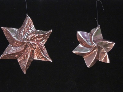 Beautiful Copper Formfolded Star Holiday Decorations