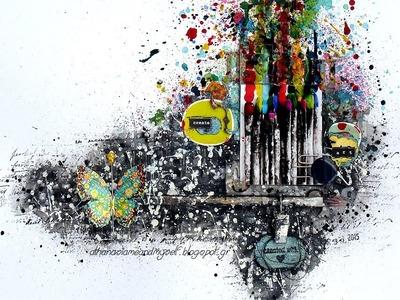 'Create art' ~ mixed media layout