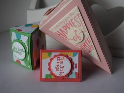 Cutie pie cake box and no die treat box