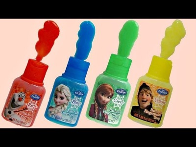 Disney Frozen Bathtub Fingerpaint Soap, Learn Colors, Fun with Anna, Elsa, Olaf, Kristoff. TUYC