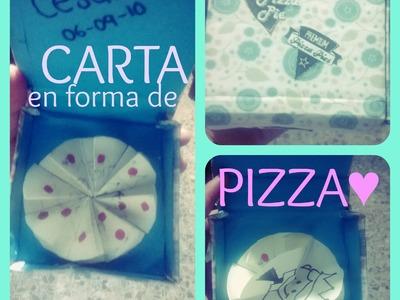 DIY: Carta en forma de PIZZA♥
