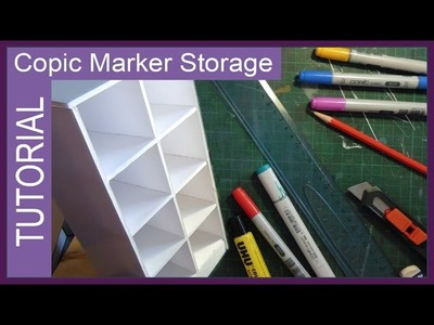 DIY Copic Marker Storage unit ✬ by Sakuems