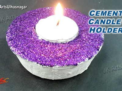 DIY  Easy Cement Candle Holder | How to make | JK Arts 926