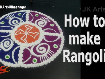 DIY Easy Colorful Rangoli | How to make | Sand Art | JK Arts 931