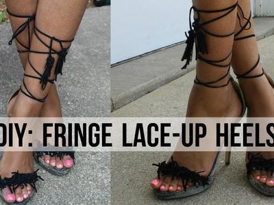 DIY: Fringe Lace-Up Heels ;)