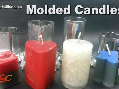 DIY Homemade Molded Wax Candles | How to Make | JK Arts 958