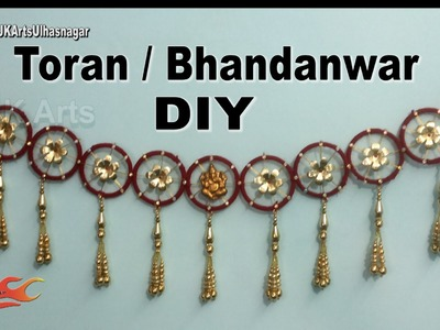DIY Toran. Bandhanwar from waste bangles | How to make | JK Arts 944