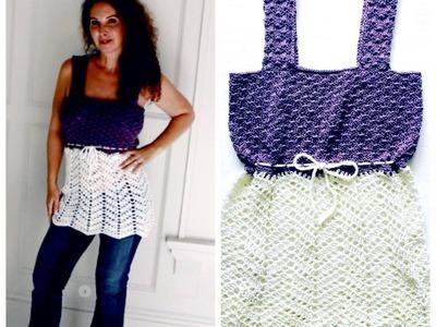 Empire waist Crochet Top