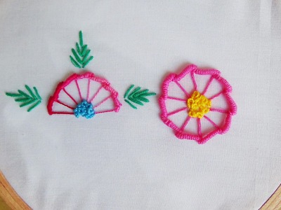 Hand Embroidery: Bullion Knot and Blanket Stitch (Flowers)