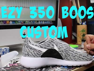 How To Make Roshe Yeezy 350 Boost Customs Tutorial