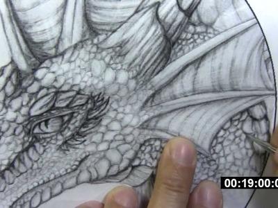 Leathercraft - dragon tooling (part 1) - transferring image